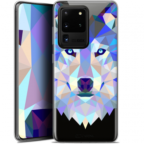"Carcasa Gel Extra Fina Samsung Galaxy S20 Ultra (6.9"") Polygon Animals Lobo"