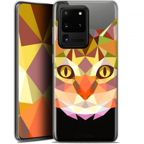 "Carcasa Gel Extra Fina Samsung Galaxy S20 Ultra (6.9"") Polygon Animals Gato"