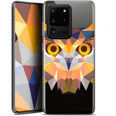 "Carcasa Gel Extra Fina Samsung Galaxy S20 Ultra (6.9"") Polygon Animals Búho"