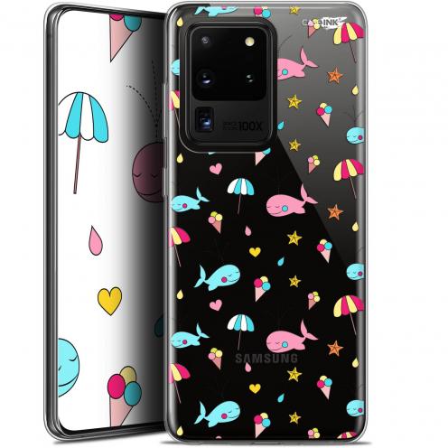 "Carcasa Gel Extra Fina Samsung Galaxy S20 Ultra (6.9"") Design Baleine à la Plage"