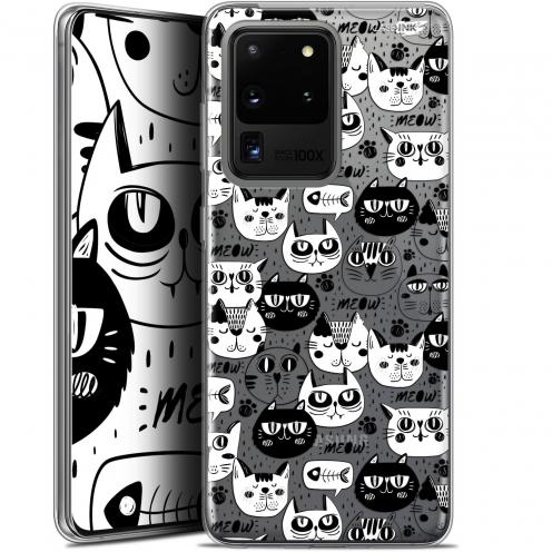 "Carcasa Gel Extra Fina Samsung Galaxy S20 Ultra (6.9"") Design Chat Noir Chat Blanc"