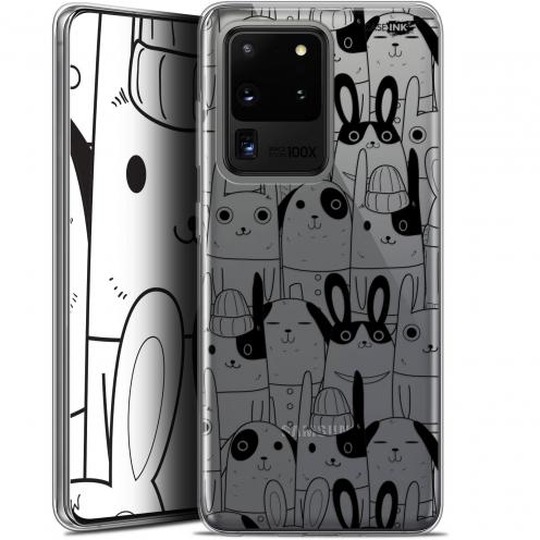 "Carcasa Gel Extra Fina Samsung Galaxy S20 Ultra (6.9"") Design Lapin Noir"