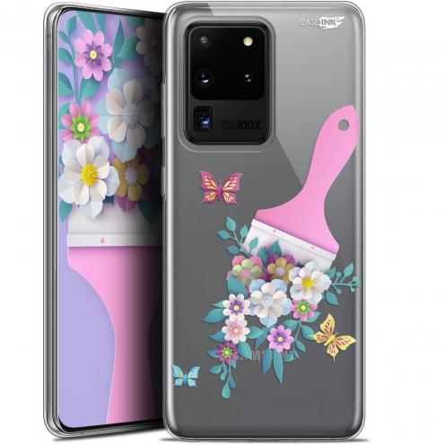 "Carcasa Gel Extra Fina Samsung Galaxy S20 Ultra (6.9"") Design Pinceau à Fleurs"