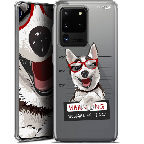 "Carcasa Gel Extra Fina Samsung Galaxy S20 Ultra (6.9"") Design Beware The Husky Dog"