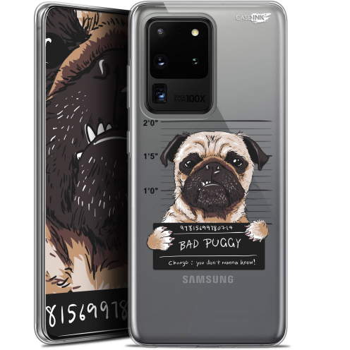 "Carcasa Gel Extra Fina Samsung Galaxy S20 Ultra (6.9"") Design Beware The Puggy Dog"