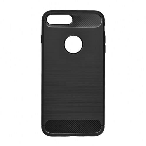 Forcell CARBON Case for iPhone SE 2020 black