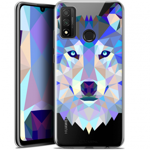 "Carcasa Gel Extra Fina Huawei P Smart 2020 (6.2"") Polygon Animals Lobo"