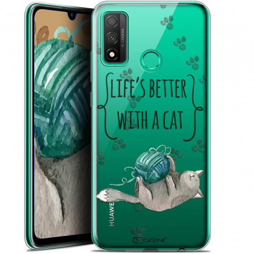 """Carcasa Gel Extra Fina Huawei P Smart 2020 (6.2"""") Quote Life's Better With a Cat"""