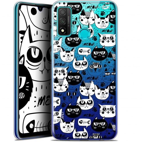 "Carcasa Gel Extra Fina Huawei P Smart 2020 (6.2"") Design Chat Noir Chat Blanc"