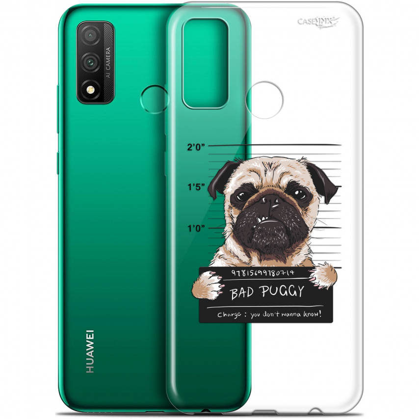 "Carcasa Gel Extra Fina Huawei P Smart 2020 (6.2"") Design Beware The Puggy Dog"
