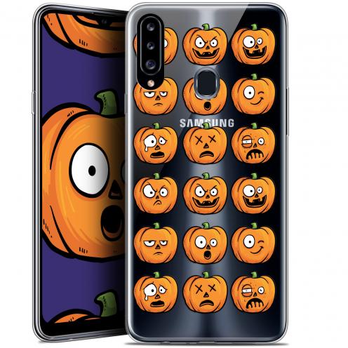 "Carcasa Gel Extra Fina Samsung Galaxy A20s (6.5"") Halloween Cartoon Citrouille"
