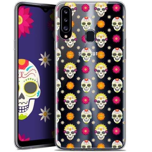 """Carcasa Gel Extra Fina Samsung Galaxy A20s (6.5"""") Halloween Skull Halloween"""