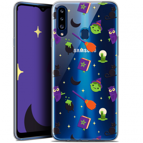 "Carcasa Gel Extra Fina Samsung Galaxy A20s (6.5"") Halloween Witch Potter"