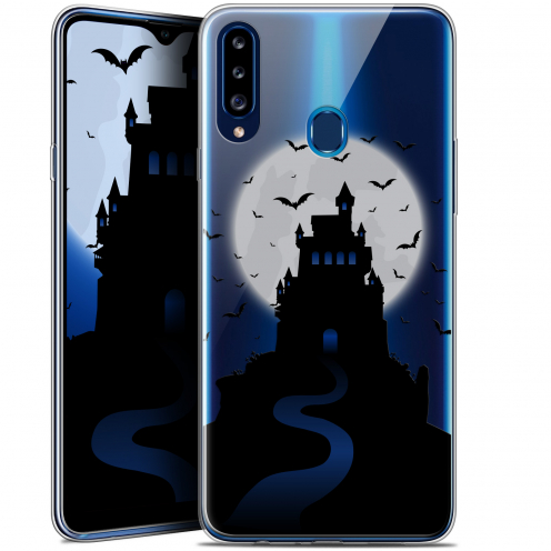 "Carcasa Gel Extra Fina Samsung Galaxy A20s (6.5"") Halloween Castle Nightmare"