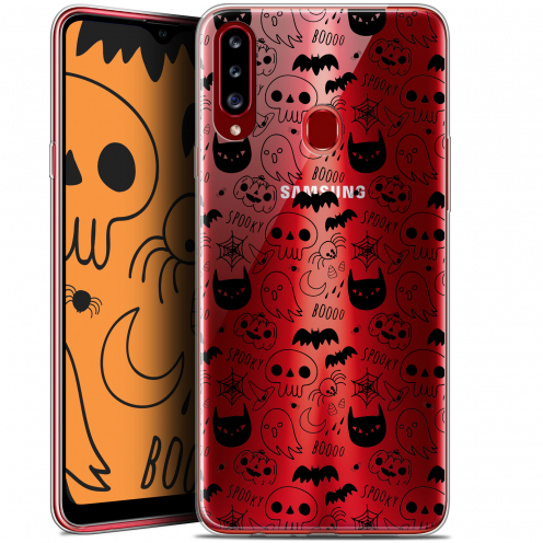 "Carcasa Gel Extra Fina Samsung Galaxy A20s (6.5"") Halloween Spooky"