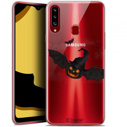 "Carcasa Gel Extra Fina Samsung Galaxy A20s (6.5"") Halloween Chauve Citrouille"