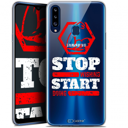 """Carcasa Gel Extra Fina Samsung Galaxy A20s (6.5"""") Quote Start Doing"""