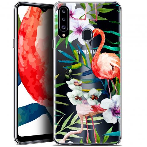 "Carcasa Gel Extra Fina Samsung Galaxy A20s (6.5"") Watercolor Tropical Flamingo"