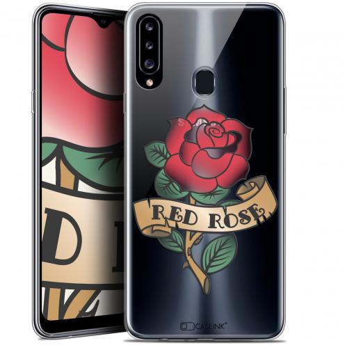 "Carcasa Gel Extra Fina Samsung Galaxy A20s (6.5"") Tatoo Lover Red Rose"