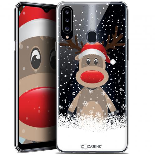 """Carcasa Gel Extra Fina Samsung Galaxy A20s (6.5"""") Noël 2017 Cerf au Bonnet"""