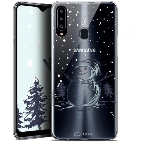 "Carcasa Gel Extra Fina Samsung Galaxy A20s (6.5"") Noël 2017 Bonhomme de Neige"