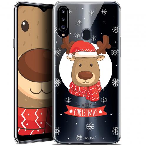 "Carcasa Gel Extra Fina Samsung Galaxy A20s (6.5"") Noël 2017 Cerf à Echarpe"