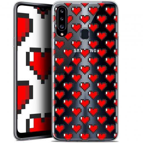 """Carcasa Gel Extra Fina Samsung Galaxy A20s (6.5"""") Love Pixel Art"""
