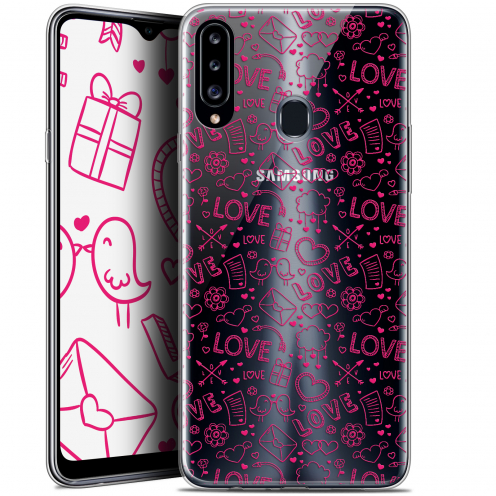 "Carcasa Gel Extra Fina Samsung Galaxy A20s (6.5"") Love Doodle"