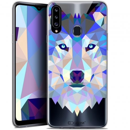 "Carcasa Gel Extra Fina Samsung Galaxy A20s (6.5"") Polygon Animals Lobo"