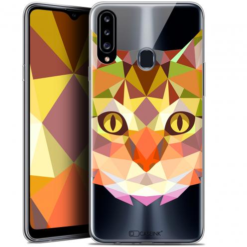 "Carcasa Gel Extra Fina Samsung Galaxy A20s (6.5"") Polygon Animals Gato"