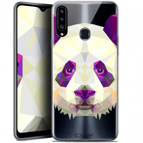 "Carcasa Gel Extra Fina Samsung Galaxy A20s (6.5"") Polygon Animals Panda"