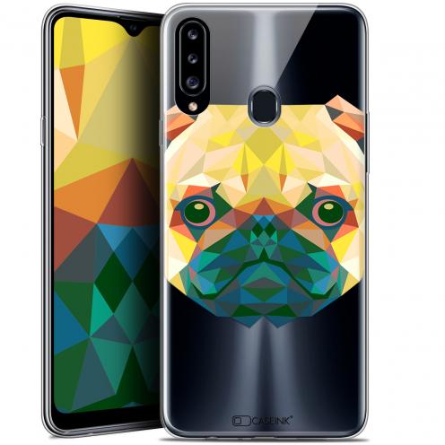 "Carcasa Gel Extra Fina Samsung Galaxy A20s (6.5"") Polygon Animals Perro"