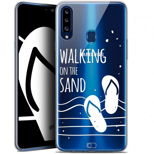 "Carcasa Gel Extra Fina Samsung Galaxy A20s (6.5"") Summer Walking on the Sand"