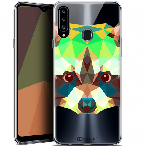 "Carcasa Gel Extra Fina Samsung Galaxy A20s (6.5"") Polygon Animals Raton Laveur"
