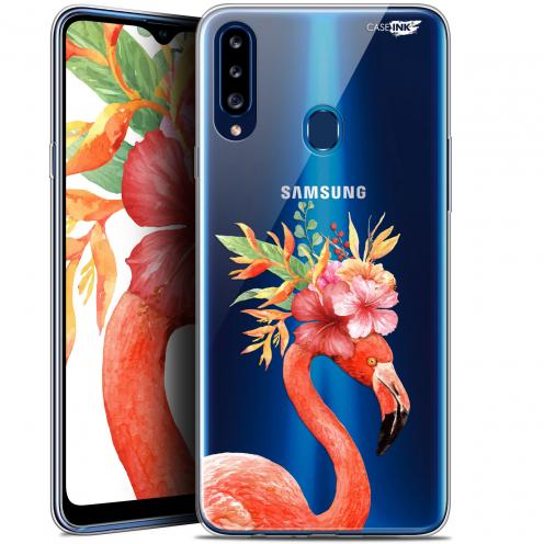 "Carcasa Gel Extra Fina Samsung Galaxy A20s (6.5"") Design Flamant Rose Fleuri"
