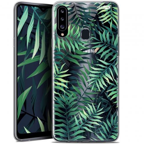 """Carcasa Gel Extra Fina Samsung Galaxy A20s (6.5"""") Design Feuilles des Tropiques"""