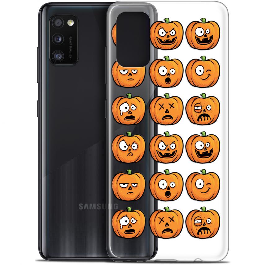 "Carcasa Gel Extra Fina Samsung Galaxy A41 (6.1"") Halloween Cartoon Citrouille"