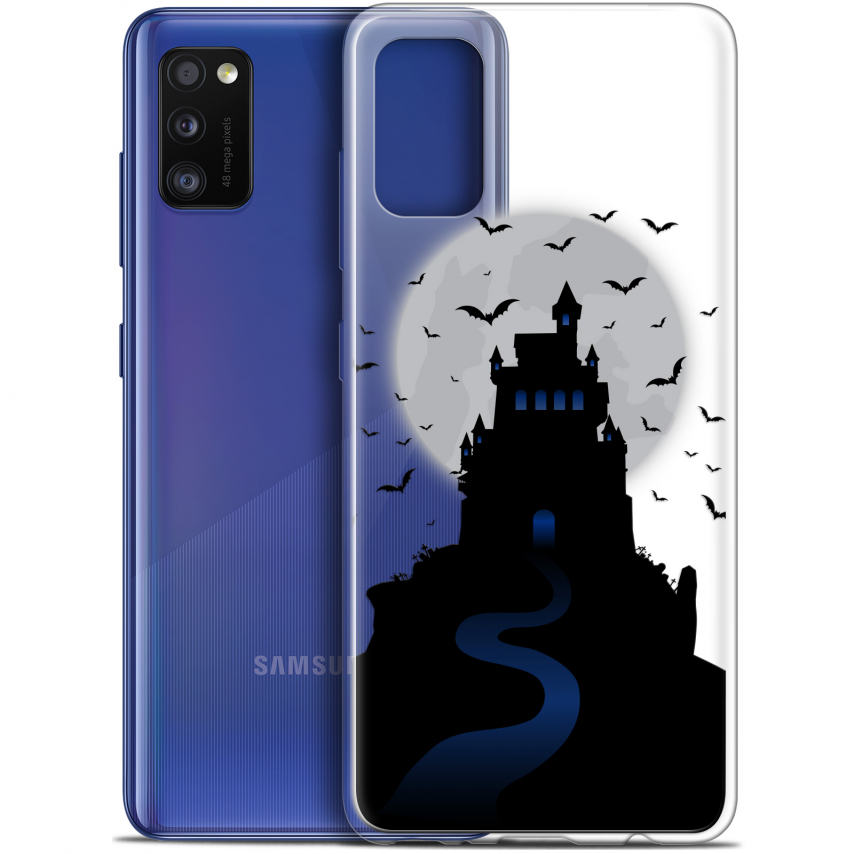 "Carcasa Gel Extra Fina Samsung Galaxy A41 (6.1"") Halloween Castle Nightmare"