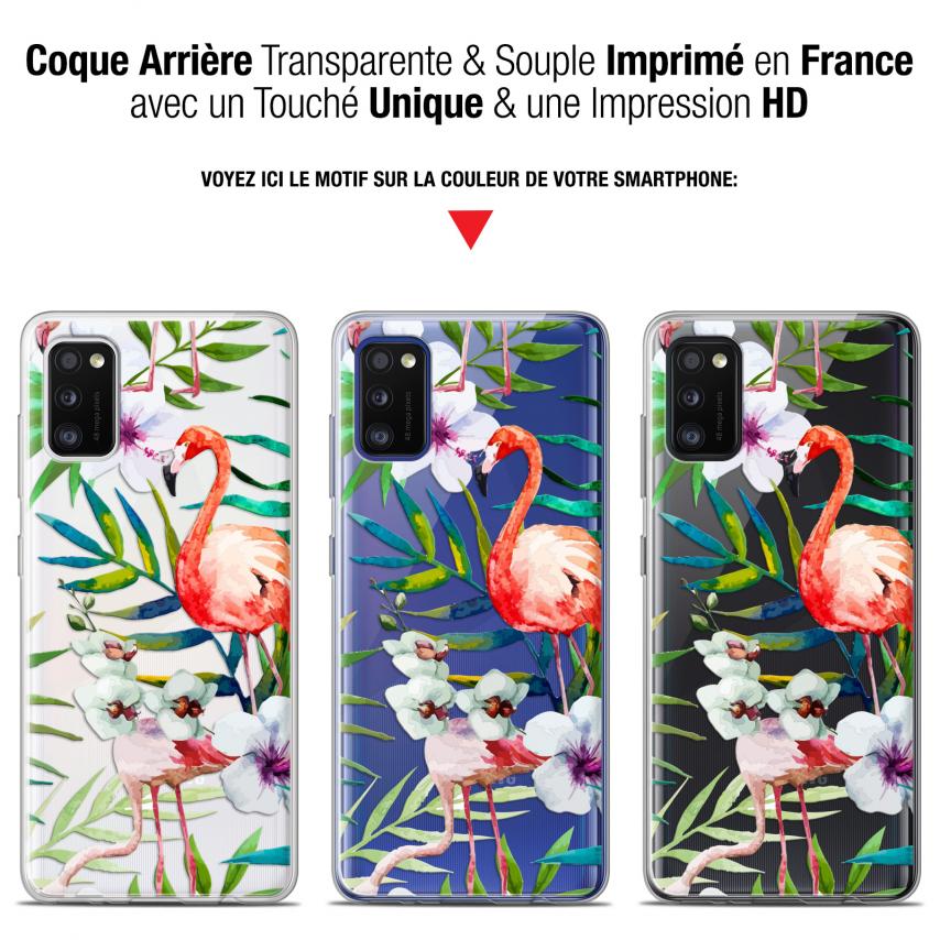 "Carcasa Gel Extra Fina Samsung Galaxy A41 (6.1"") Watercolor Tropical Flamingo"