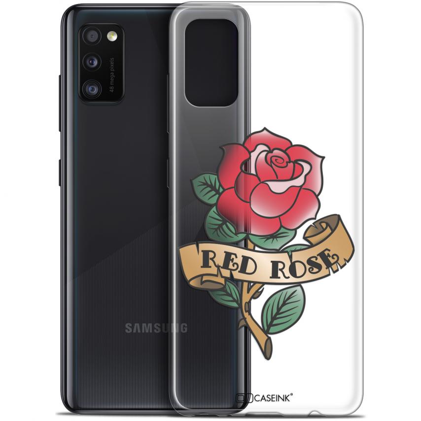 "Carcasa Gel Extra Fina Samsung Galaxy A41 (6.1"") Tatoo Lover Red Rose"