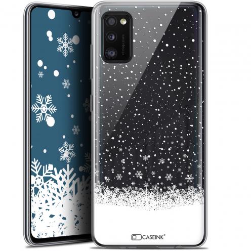 "Carcasa Gel Extra Fina Samsung Galaxy A41 (6.1"") Noël 2017 Flocons de Neige"