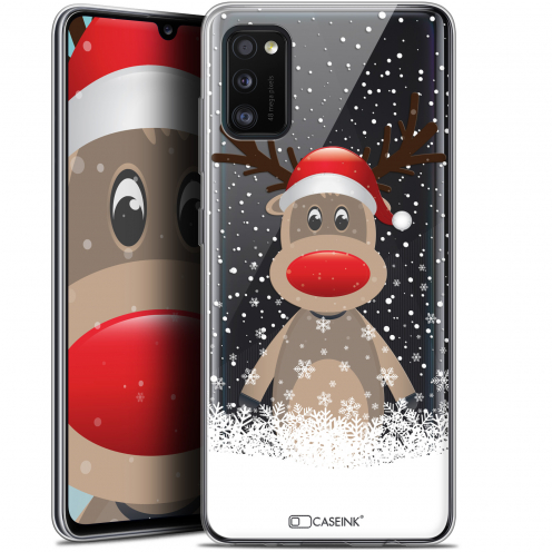 """Carcasa Gel Extra Fina Samsung Galaxy A41 (6.1"""") Noël 2017 Cerf au Bonnet"""