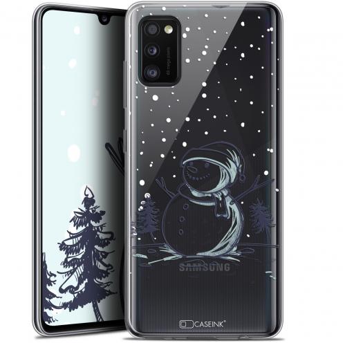"Carcasa Gel Extra Fina Samsung Galaxy A41 (6.1"") Noël 2017 Bonhomme de Neige"