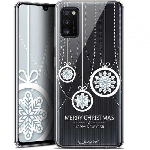 "Carcasa Gel Extra Fina Samsung Galaxy A41 (6.1"") Noël 2017 Christmas Balls"