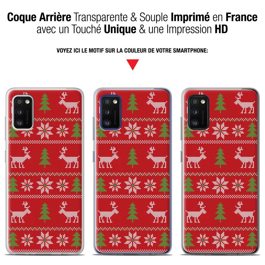 "Carcasa Gel Extra Fina Samsung Galaxy A41 (6.1"") Noël 2017 Couture Rouge"