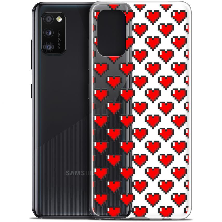 """Carcasa Gel Extra Fina Samsung Galaxy A41 (6.1"""") Love Pixel Art"""