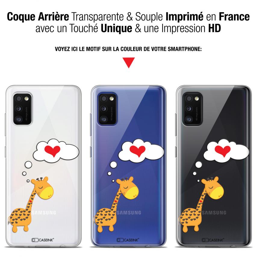 "Carcasa Gel Extra Fina Samsung Galaxy A41 (6.1"") Love Girafe Amoureuse"