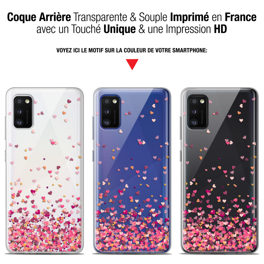 "Carcasa Gel Extra Fina Samsung Galaxy A41 (6.1"") Sweetie Heart Flakes"