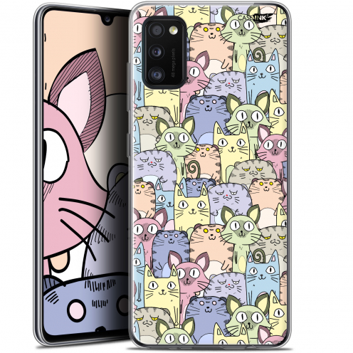 "Carcasa Gel Extra Fina Samsung Galaxy A41 (6.1"") Design Foule de Chats"