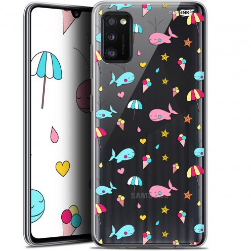 "Carcasa Gel Extra Fina Samsung Galaxy A41 (6.1"") Design Baleine à la Plage"